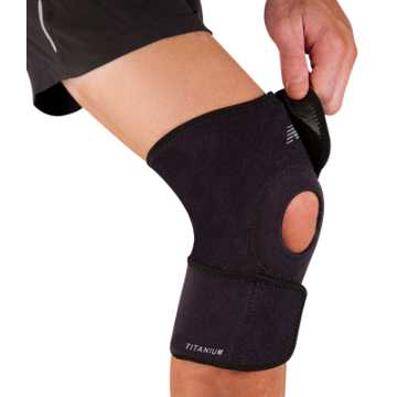 New Balance Adjustable Open Knee Support, Black