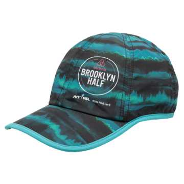 New Balance Run Cap, Teal with Black