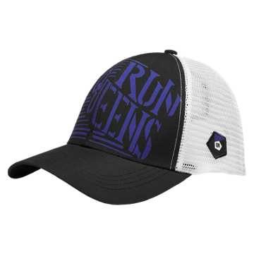 New Balance Queens Technical Trucker Hat, Black with Spectral