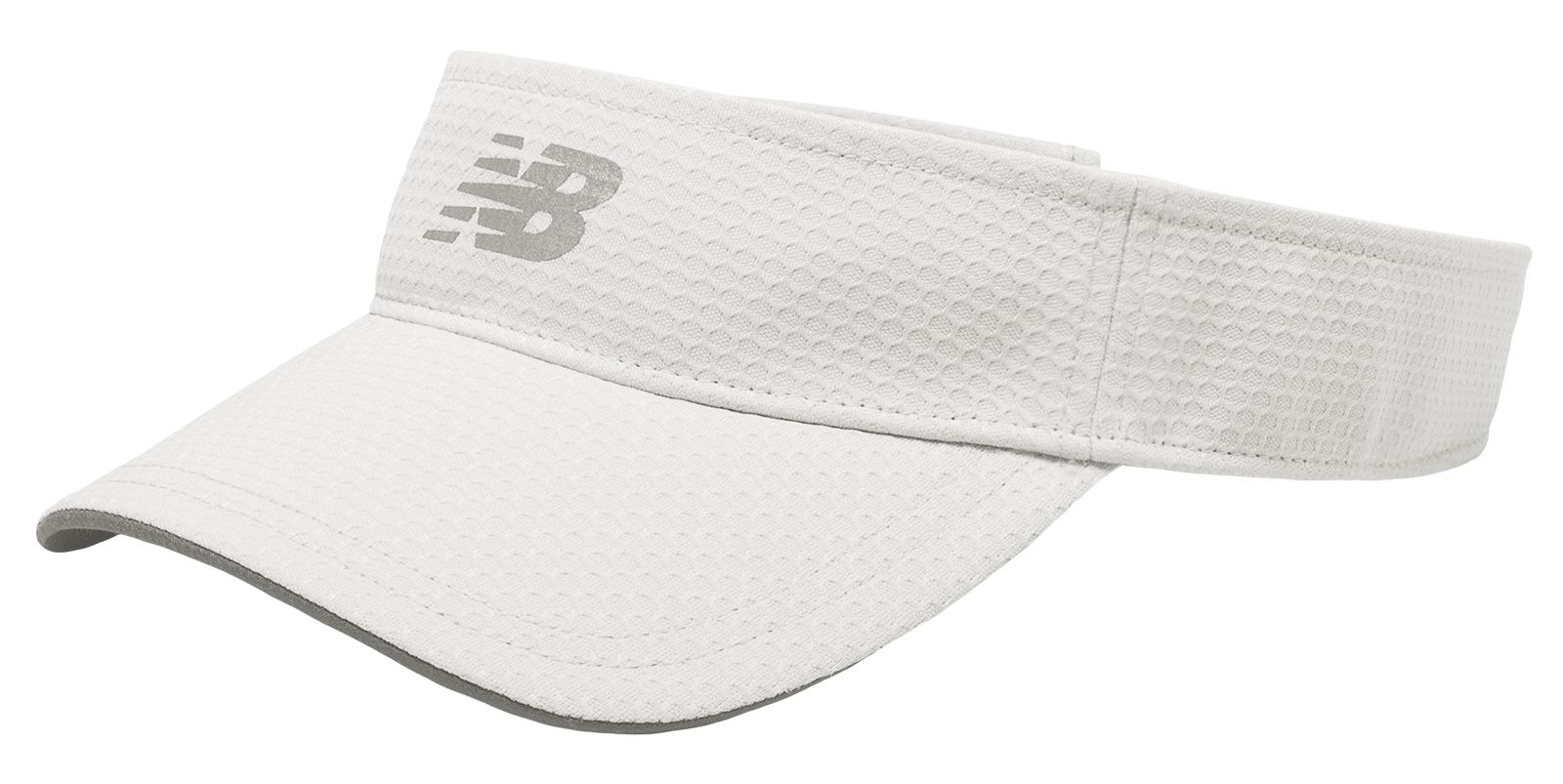 NB Performance Visor, White with Silver Mink
