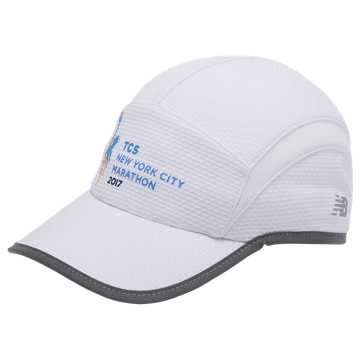 New Balance NYC Marathon 5 Panel Performance Hat, White