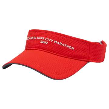 New Balance NYC Marathon Performance Visor, Red