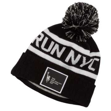 New Balance NYC Marathon Pom Pom Beanie Run NYC, Black
