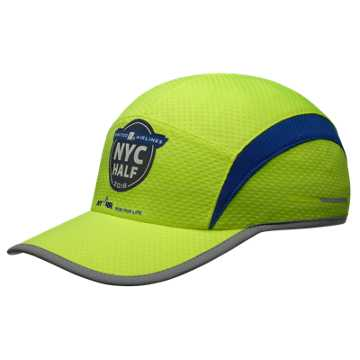 New Balance United Airlines NYC Half 5 Panel Performance Cap, Hi-Lite