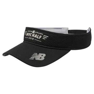 New Balance United Airlines NYC Half Performance Visor, Black