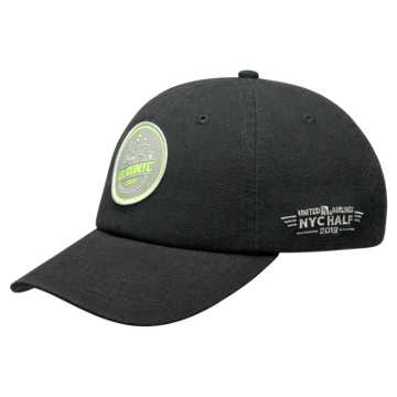 New Balance United Half 6 Panel Patch Cap, Black