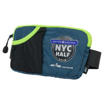 New Balance United Half Performance Waist Pack, North Sea with Hi-Lite