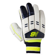 New Balance DC480 Gloves, Blue with Neon Green
