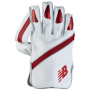 NB TC1260 Glove, White with Red