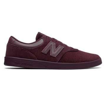 New Balance 424系列滑板鞋 中性款 经典复古 舒适潮流, 酒红色