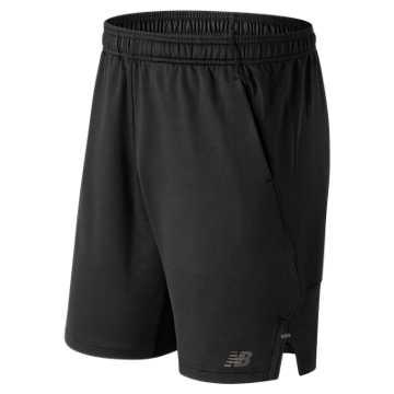 New Balance 针织短裤 男款 舒适运动 速干排湿, BK