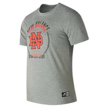 New Balance 男针织T恤, HGR