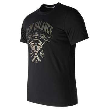 New Balance 男针织上衣, BK