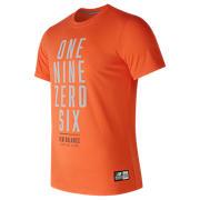 NB Mens New Balance One Nine Zero Six Tee, Alpha Orange