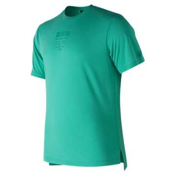New Balance 247短袖上衣 男款  舒适面料 运动休闲, TDP