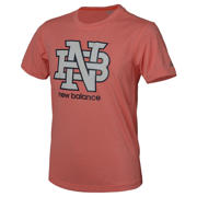 New Balance Boys Heathered Graphic Tee, Alpha Orange Heather
