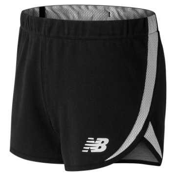 New Balance 女运动短裤, BK