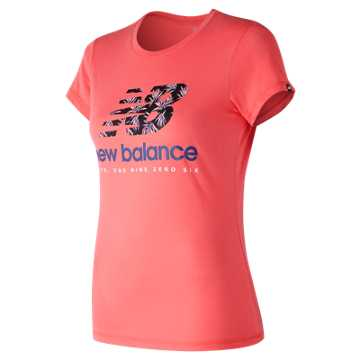 New Balance 运动T恤 女款 时尚LOGO 运动休闲, GUA