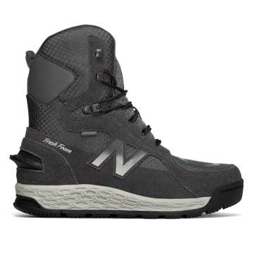 New Balance Fresh Foam 1000 Boot, Dark Grey with Grey & White