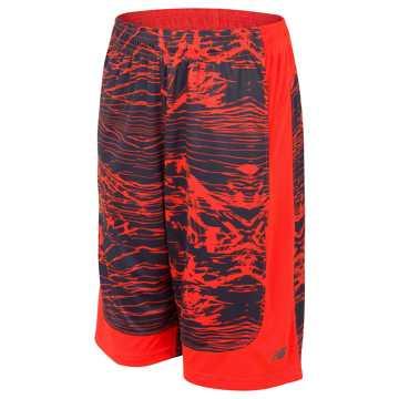 New Balance Fashion Performance Short, Alpha Orange with Thunder