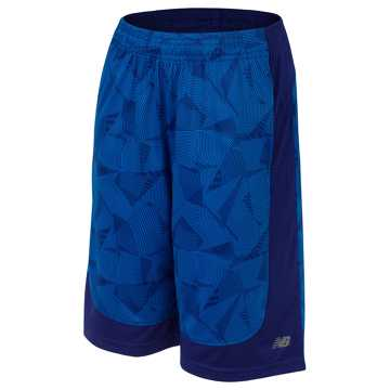 New Balance Fashion Performance Short, Basin with Electric Blue