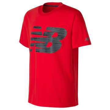 New Balance Short Sleeve Graphic Tee, Atomic