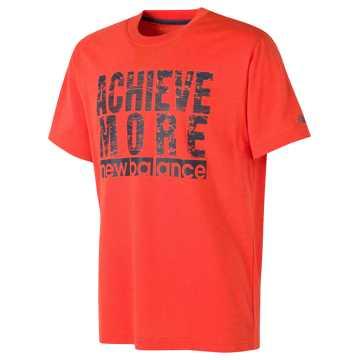 New Balance Short Sleeve Graphic Tee, Alpha Orange