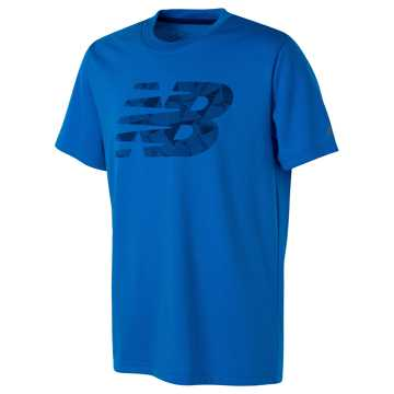 New Balance Short Sleeve Graphic Tee, Electric Blue