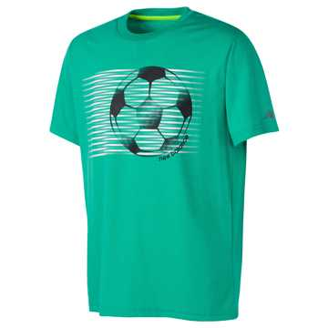 New Balance Short Sleeve Graphic Tee, Deep Jade