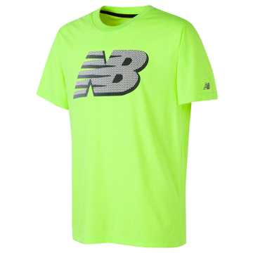 New Balance Short Sleeve Graphic Tee, Lime Glo