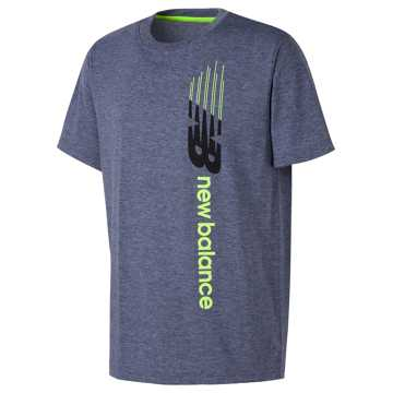 New Balance Short Sleeve Graphic Tee, Thunder Heather