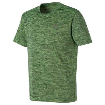 New Balance Short Sleeve Performance Tee, Lime Glo with Thunder