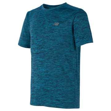 New Balance Short Sleeve Performance Tee, Ozone Blue Glow