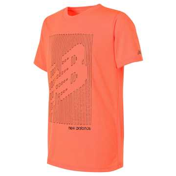 New Balance Short Sleeve Graphic Tee, Dynamite