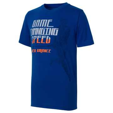 New Balance Short Sleeve Graphic Tee, Team Royal