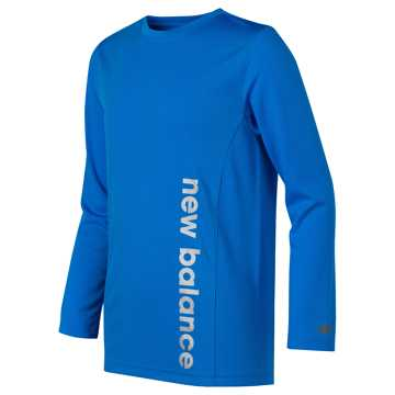 New Balance Long Sleeve Performance Tee, Bolt