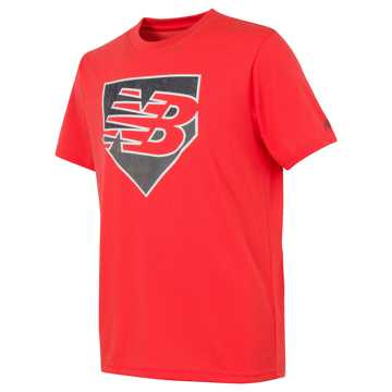 New Balance Short Sleeve Graphic Tee, Flame