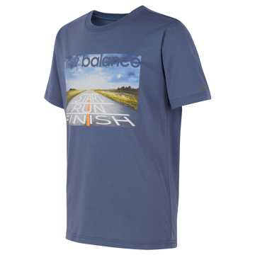New Balance Short Sleeve Graphic Tee, Pacific Heather