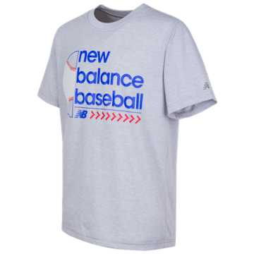 New Balance Short Sleeve Graphic Tee, Silver Mink Heather