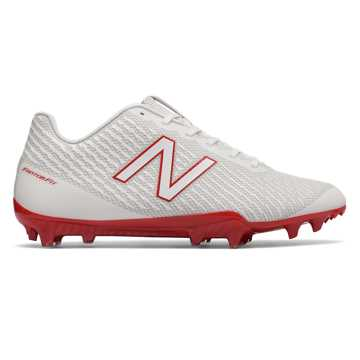New Balance Burn X Low-Cut, White with Red