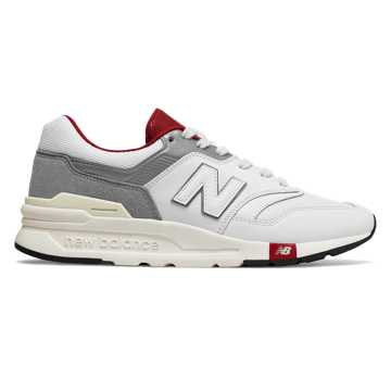 New Balance 997H 中性款 轻盈舒适 时尚有型, 白色