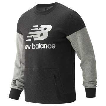 New Balance 男款长袖针织套衫, BKH