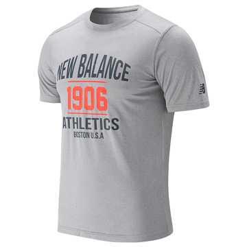 New Balance 男短袖上衣, AG