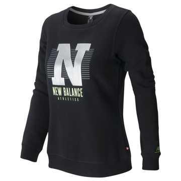 New Balance 女长袖针织套衫, BK