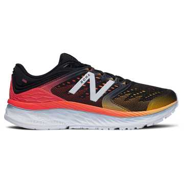 New Balance Fresh Foam 1080 男鞋 稳定舒适 缓震透气, 黑色/红色