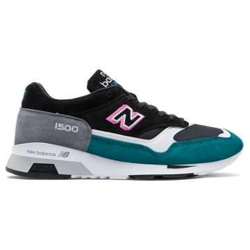 New Balance 1500复古鞋 男款 避震稳定 时尚复古, 黑色+祖母绿+白色