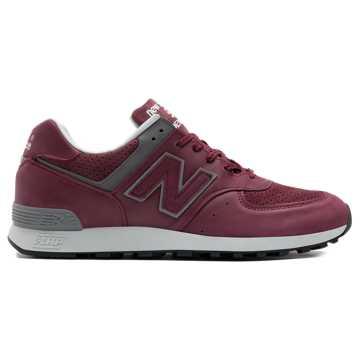 New Balance 576复古鞋 男款 避震稳定 舒适透气, 红色