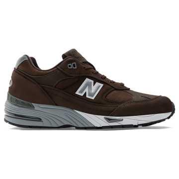 New Balance 991复古鞋 男款 避震保护, 棕色