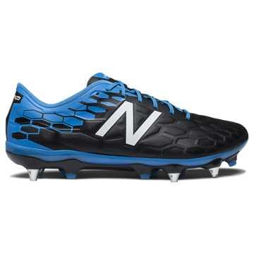 New Balance 足球鞋 男款 缓震防滑, 黑色/蓝色