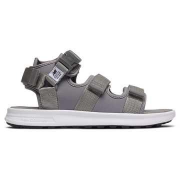 New Balance 凉鞋系列 中性款 潮流时尚 舒适缓震, 清灰色